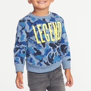 OLD NAVY | Boys 'LEGEND' Camouflage Sweatshirt